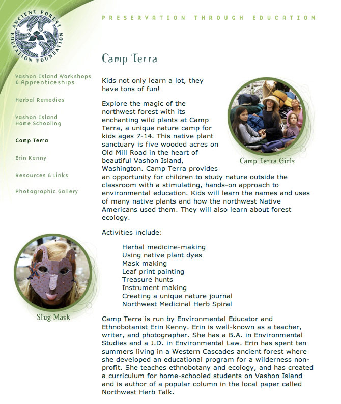 Ancient Forest Education Foundation - Camp Terra