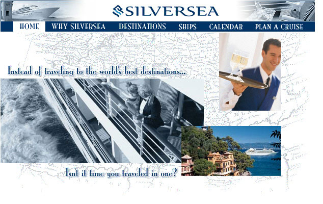 Sliversea website