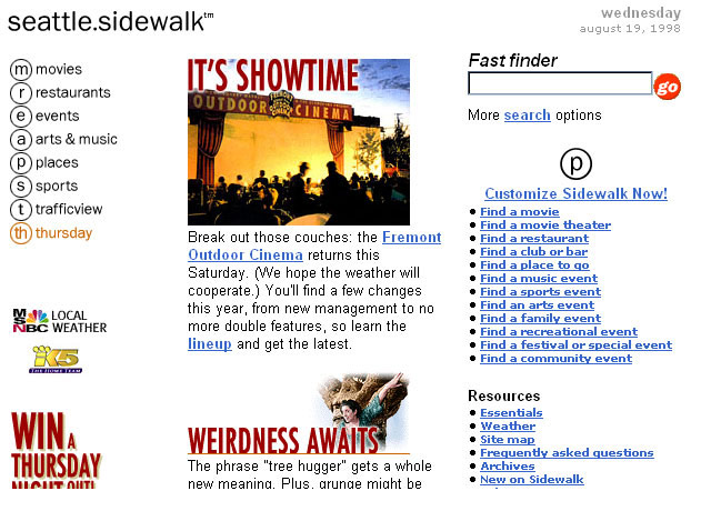 Seattle.Sidewalk.com website